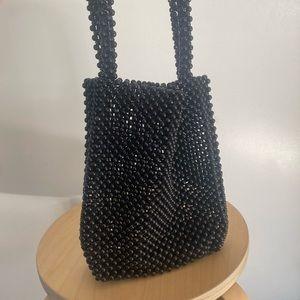 Sportsgirl short handled beaded bag